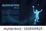 badminton consists of particles.... | Shutterstock .eps vector #1028509825