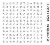 cancer icon set. collection of... | Shutterstock .eps vector #1028511646