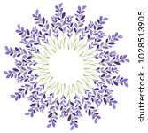 lavender flower star on white... | Shutterstock .eps vector #1028513905