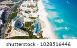 an aerial image of a beach in... | Shutterstock . vector #1028516446