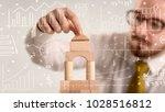 young handsome businessman...   Shutterstock . vector #1028516812