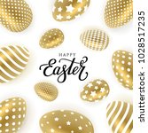 happy easter vector... | Shutterstock .eps vector #1028517235