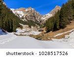 rustic house in the fagaras... | Shutterstock . vector #1028517526