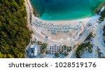 aerial view of porto vathy... | Shutterstock . vector #1028519176
