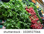 fresh produce in the grocery... | Shutterstock . vector #1028527066