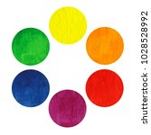 rainbow watercolor circles... | Shutterstock . vector #1028528992
