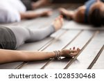 group of young sporty people...   Shutterstock . vector #1028530468