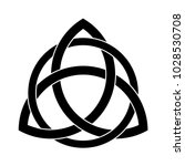 black triquetra ornament | Shutterstock .eps vector #1028530708