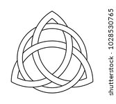 triquetra ornament with... | Shutterstock .eps vector #1028530765