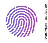 finger print vector icon | Shutterstock .eps vector #1028537185