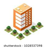 isometric 3d city landscape... | Shutterstock .eps vector #1028537398