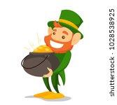 leprechaun with red beard...   Shutterstock .eps vector #1028538925