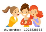 young caucasian white woman... | Shutterstock .eps vector #1028538985