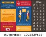 human resource infographic... | Shutterstock .eps vector #1028539636