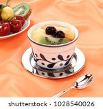 fresh fruit salad in the cup  | Shutterstock . vector #1028540026