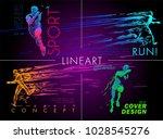 art concept of a running man.... | Shutterstock .eps vector #1028545276