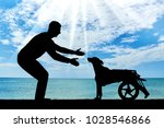 man outdoors by the sea is... | Shutterstock . vector #1028546866