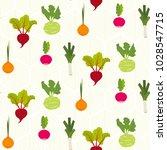 vegetable pattern   colorful... | Shutterstock .eps vector #1028547715