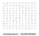 yoga icons set | Shutterstock .eps vector #1028548306