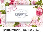 vector vintage floral frame... | Shutterstock .eps vector #1028559262