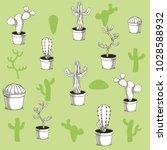desert plants hand drawn... | Shutterstock .eps vector #1028588932