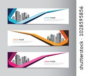 corporate business banner... | Shutterstock .eps vector #1028595856