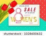 happy women's day sale... | Shutterstock .eps vector #1028600632