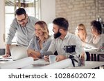 successful business group... | Shutterstock . vector #1028602072