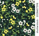 vector seamless floral pattern. ... | Shutterstock .eps vector #1028607598