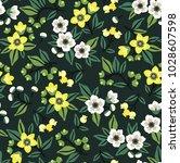 vector seamless floral pattern. ... | Shutterstock .eps vector #1028607598