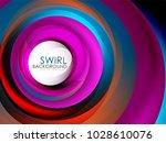 spiral swirl flowing lines 3d... | Shutterstock .eps vector #1028610076