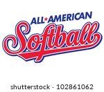 All American Softball Vector...