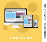 business concept flat design... | Shutterstock .eps vector #1028611702