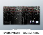 trendy glitch cover design... | Shutterstock .eps vector #1028614882