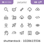 seo outline web icon collection.... | Shutterstock .eps vector #1028615536