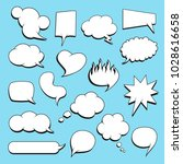 set of comic speech bubbles... | Shutterstock .eps vector #1028616658