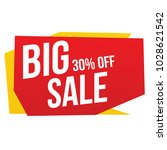 big sale banner. one day... | Shutterstock .eps vector #1028621542
