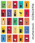 alcohol drink icons. set of... | Shutterstock .eps vector #1028626906
