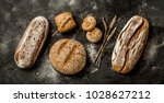 bakery   gold rustic crusty... | Shutterstock . vector #1028627212