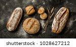 bakery   gold rustic crusty... | Shutterstock . vector #1028627212