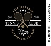 tennis club badge. vector... | Shutterstock .eps vector #1028630962
