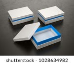 opened and closed white boxes... | Shutterstock . vector #1028634982