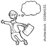 cartoon man late for work | Shutterstock . vector #102864152