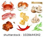 food flavors and seasonings for ... | Shutterstock .eps vector #1028644342