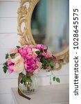flowers in the interior and... | Shutterstock . vector #1028645575