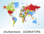 color world map vector | Shutterstock .eps vector #1028647396