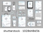 corporate identity template set.... | Shutterstock .eps vector #1028648656