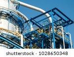 industrial zone the equipment... | Shutterstock . vector #1028650348