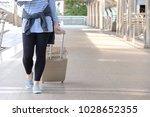 young happy caucasian teenager...   Shutterstock . vector #1028652355