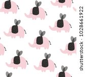 cute seamless pattern with... | Shutterstock .eps vector #1028661922